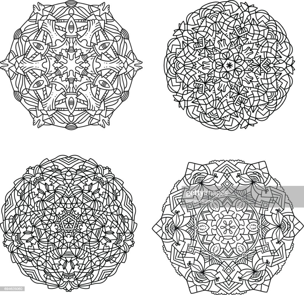 Vector Mandalas Set #3