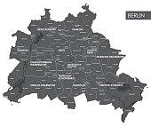 Vector map Berlin district
