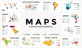 Vector map infographic. Slide presentation. Global business marketing concept. Color country. World transportation geography data. Economic statistic template. World, America, Africa, Europe, Asia, Australia, USA