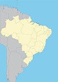 vector map of Brazil