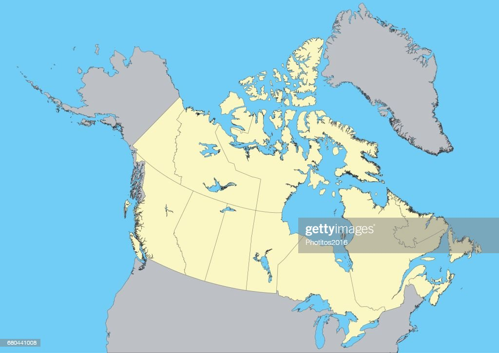 vector map of Canada