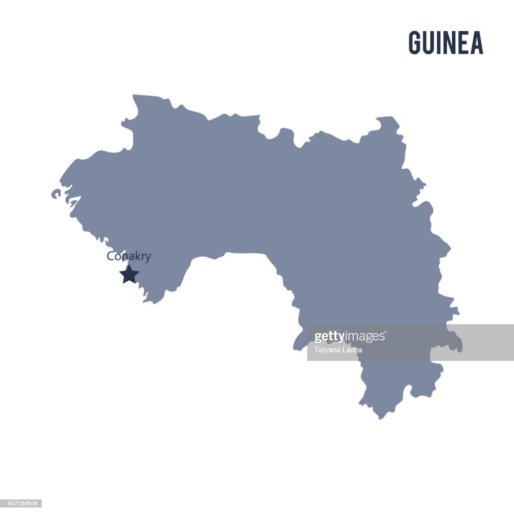Vector map of Guinea isolated on white background.