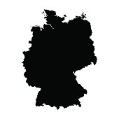 vector map of map of Germany