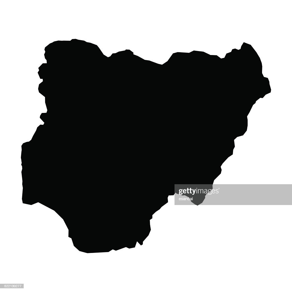 vector map of map of Nigeria