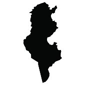 vector map of map of Tunisia