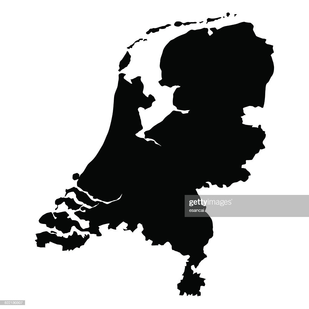vector map of Netherlands