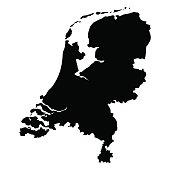 vector map of Netherlands