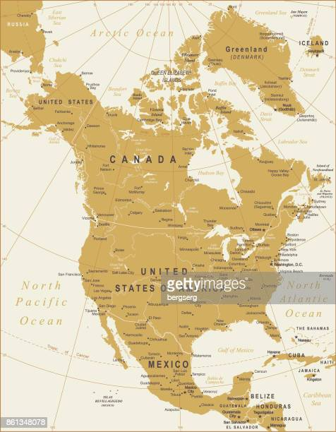 Vector Map of North America