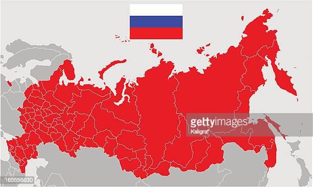 ilustrações, clipart, desenhos animados e ícones de vetor mapa da rússia e a bandeira - cultura russa
