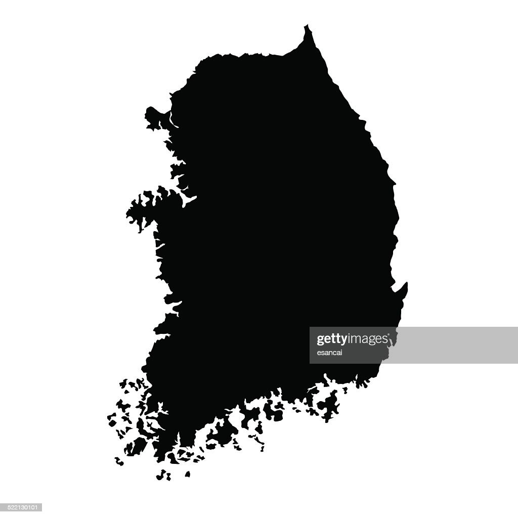vector map of South Korea