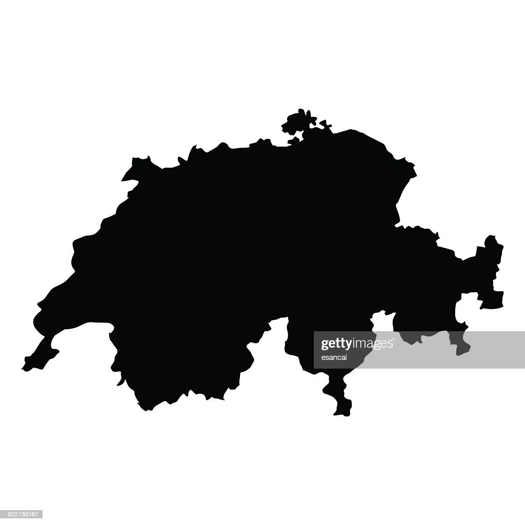 vector map of Switzerland