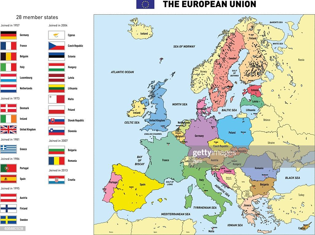 Vector map of The European Union