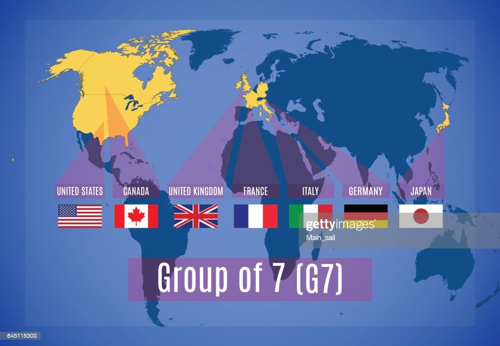 Vector map of the Group of Seven (G7).