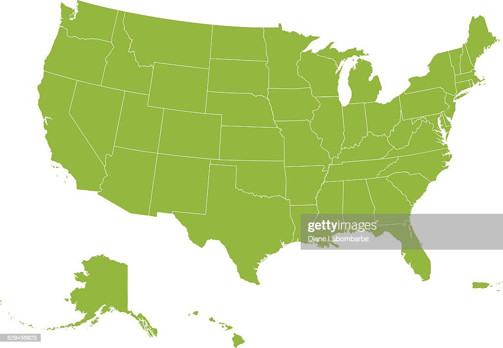 vector map of the united states of america vector art getty images