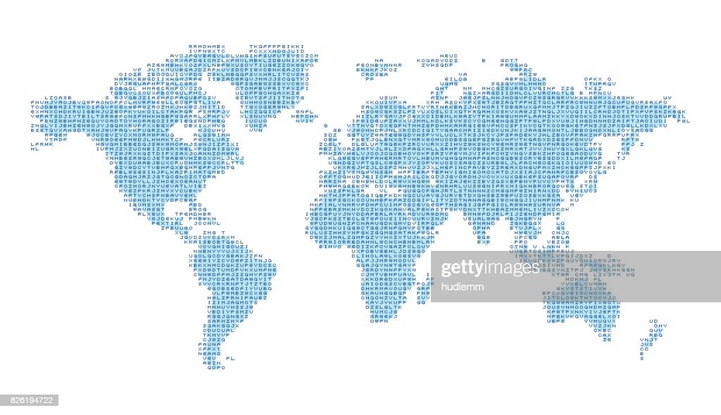 Vector map of the world with english alphabet vector art getty images vector map of the world with english alphabet letter vector art gumiabroncs Choice Image