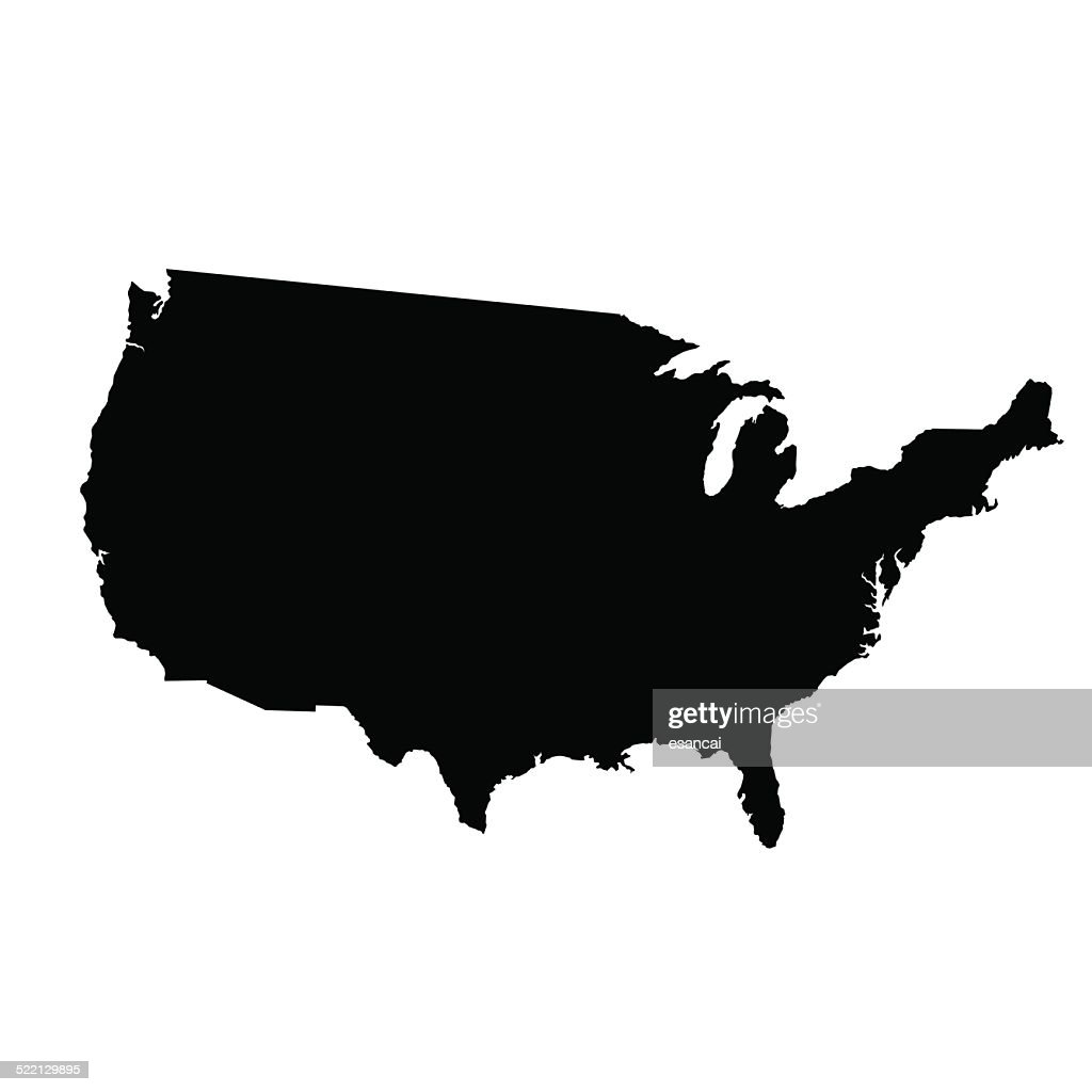 Vector Map Of United States Vector Art Getty Images - Us vector map