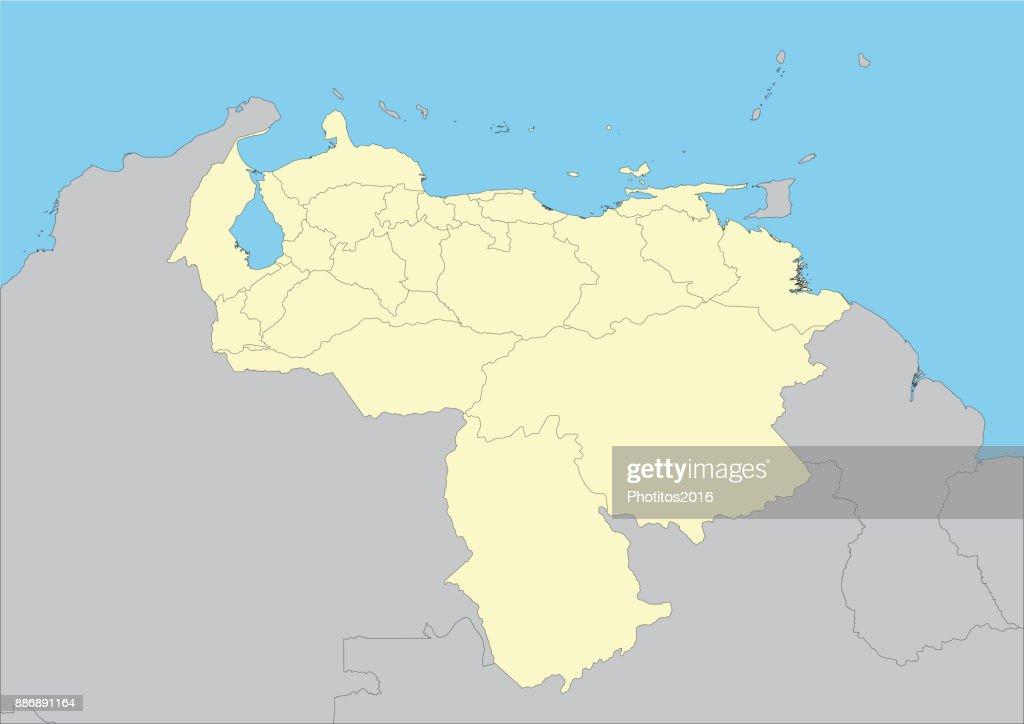 vector map of Venezuela