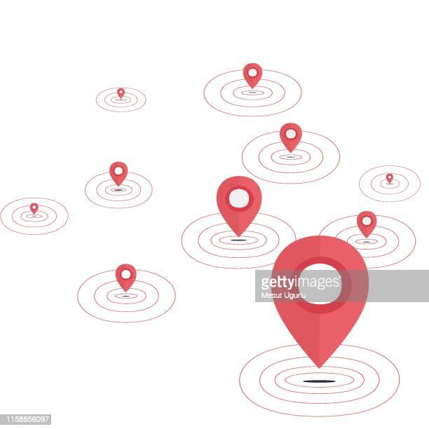 vector map pin icon isolated - locator map stock illustrations