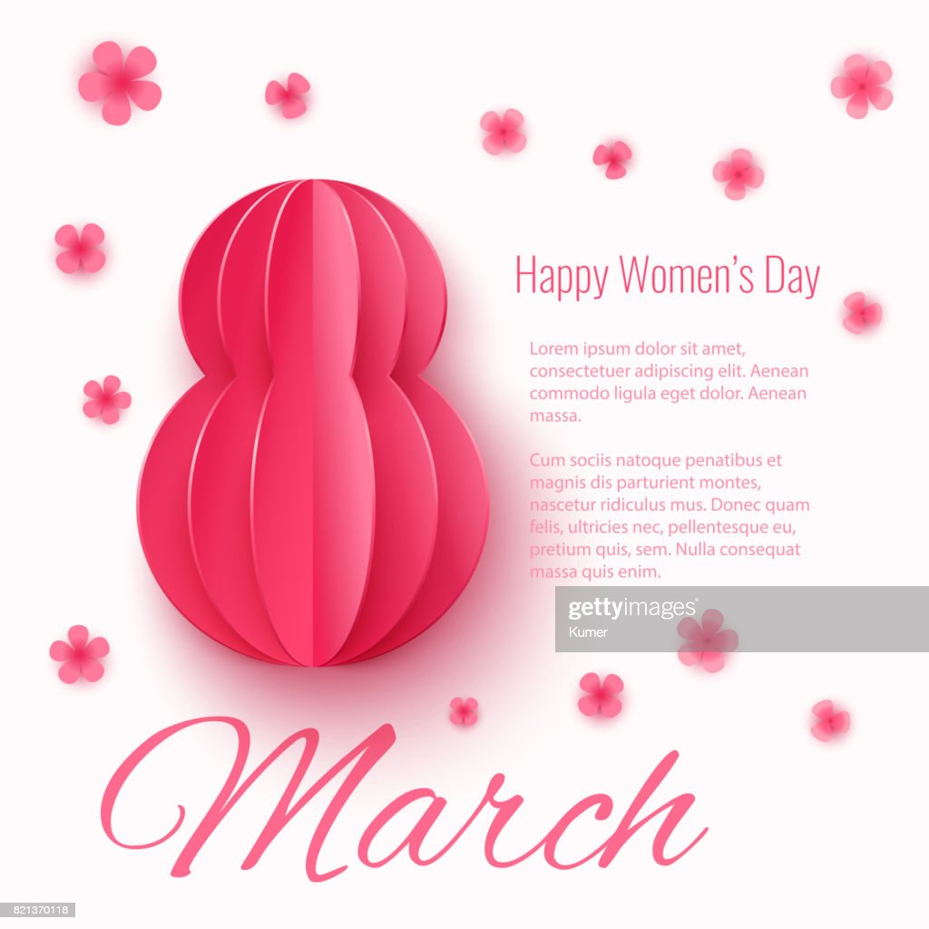 Vector March 8 Happy Womens Day Greeting Card Vector Art Getty Images