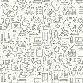 Vector medicine and health design seamless background