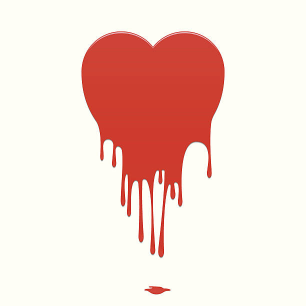 vector melting heart - melting stock illustrations