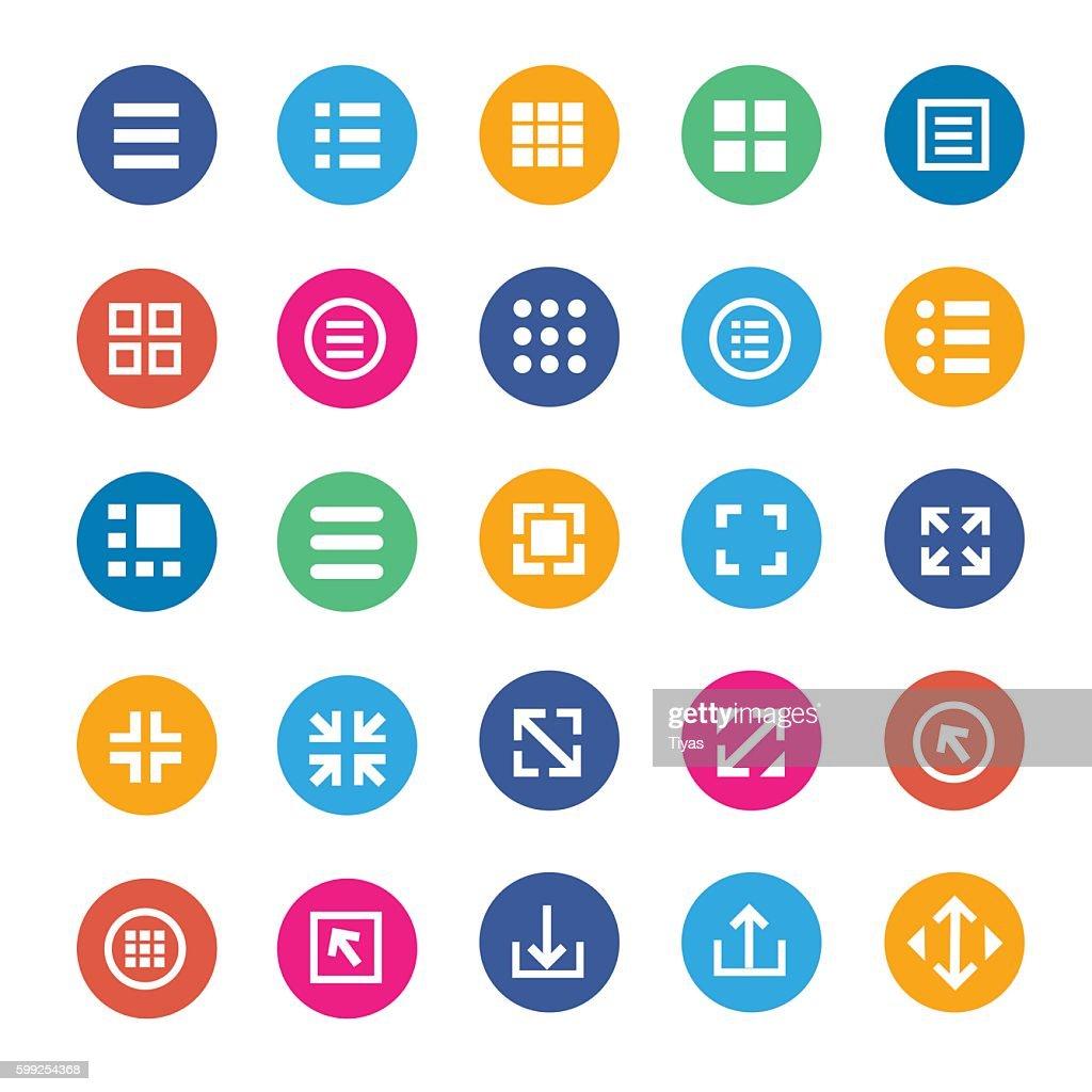 Vector menu icons