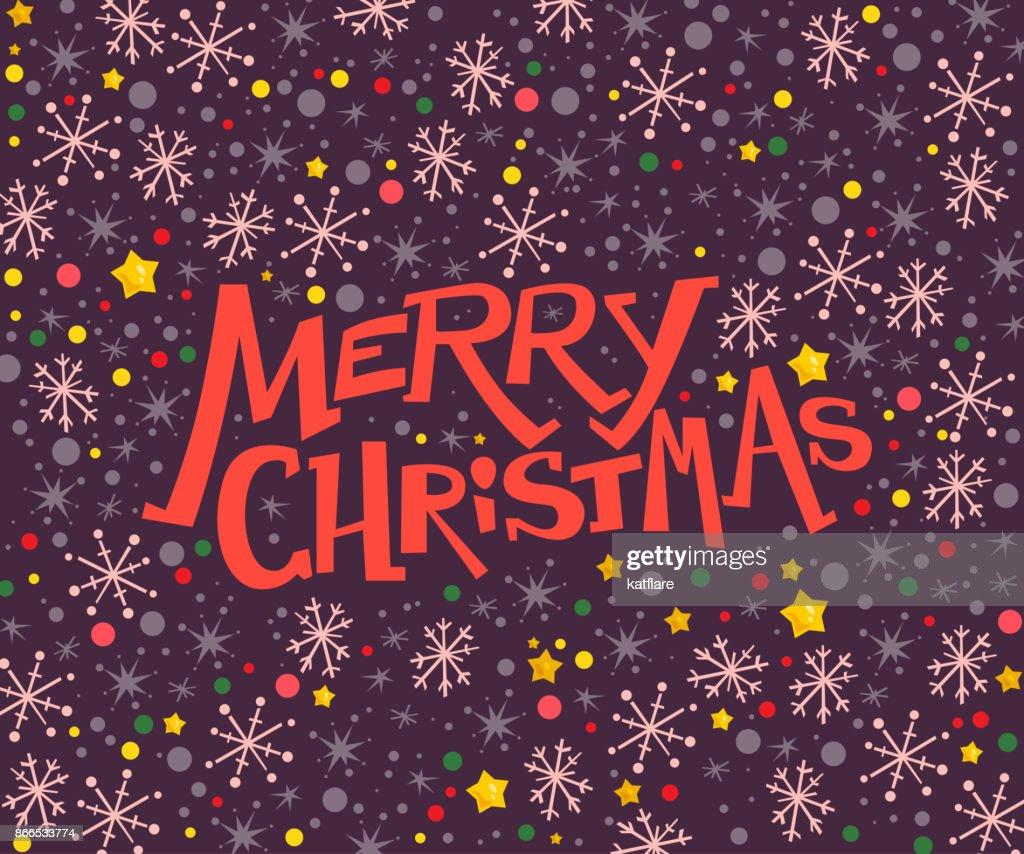 Vektorfrohe Weihnachten Gratulation Design Mit Sms Und Bunten ...