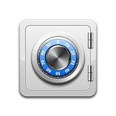 Vector metal safe icon