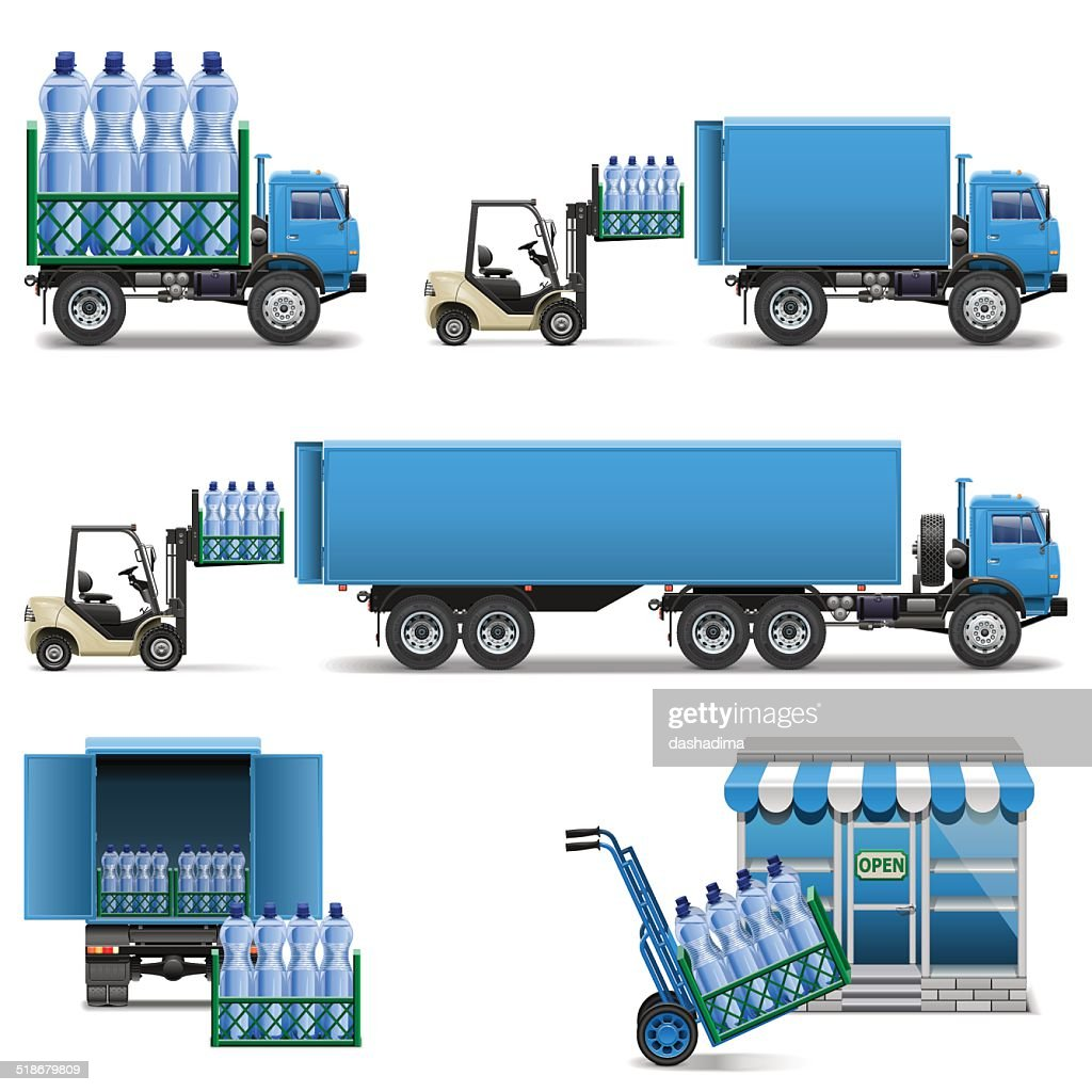 Vector Mineral Water Shipping