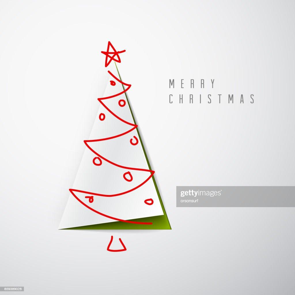 Vector minimalistic Merry Christmas card