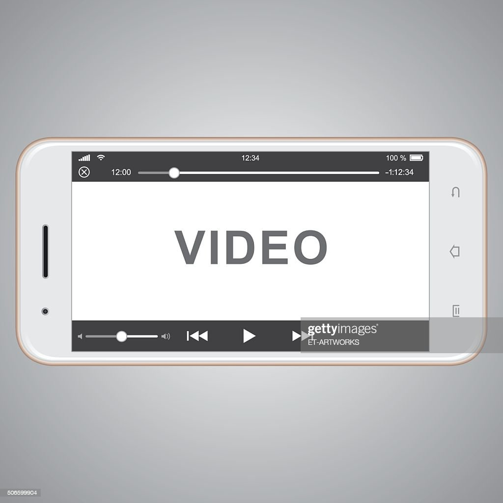 vector mobile phone template for video cover