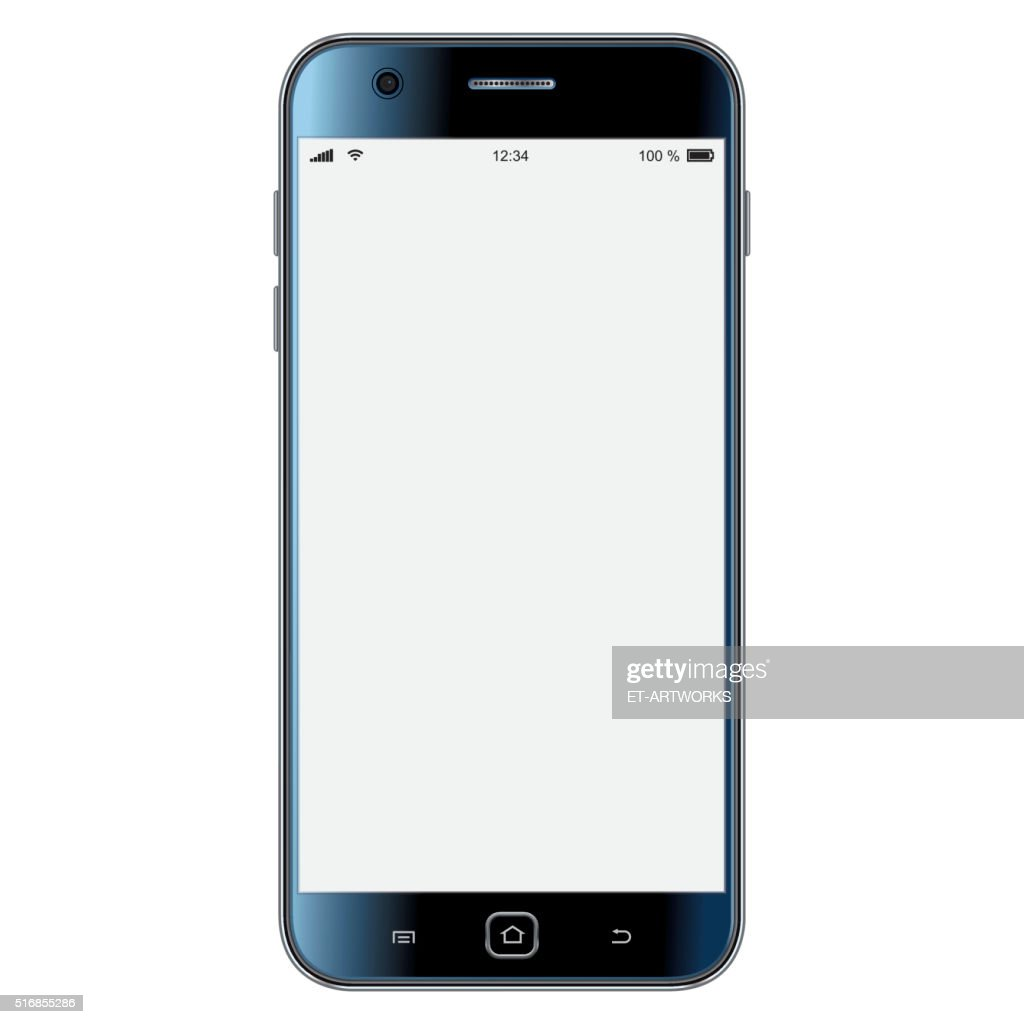 Vector mobile phone template