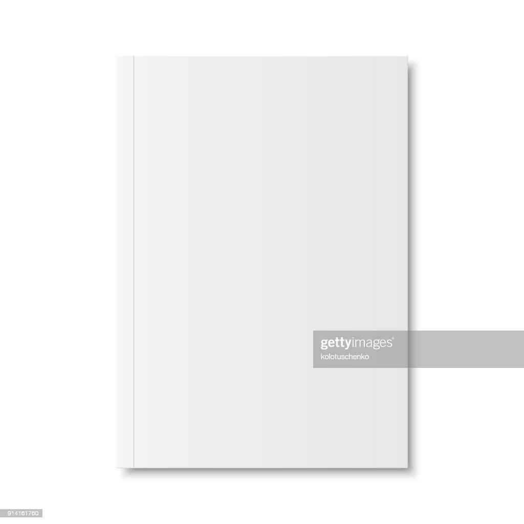 Vector mock up of book or magazine