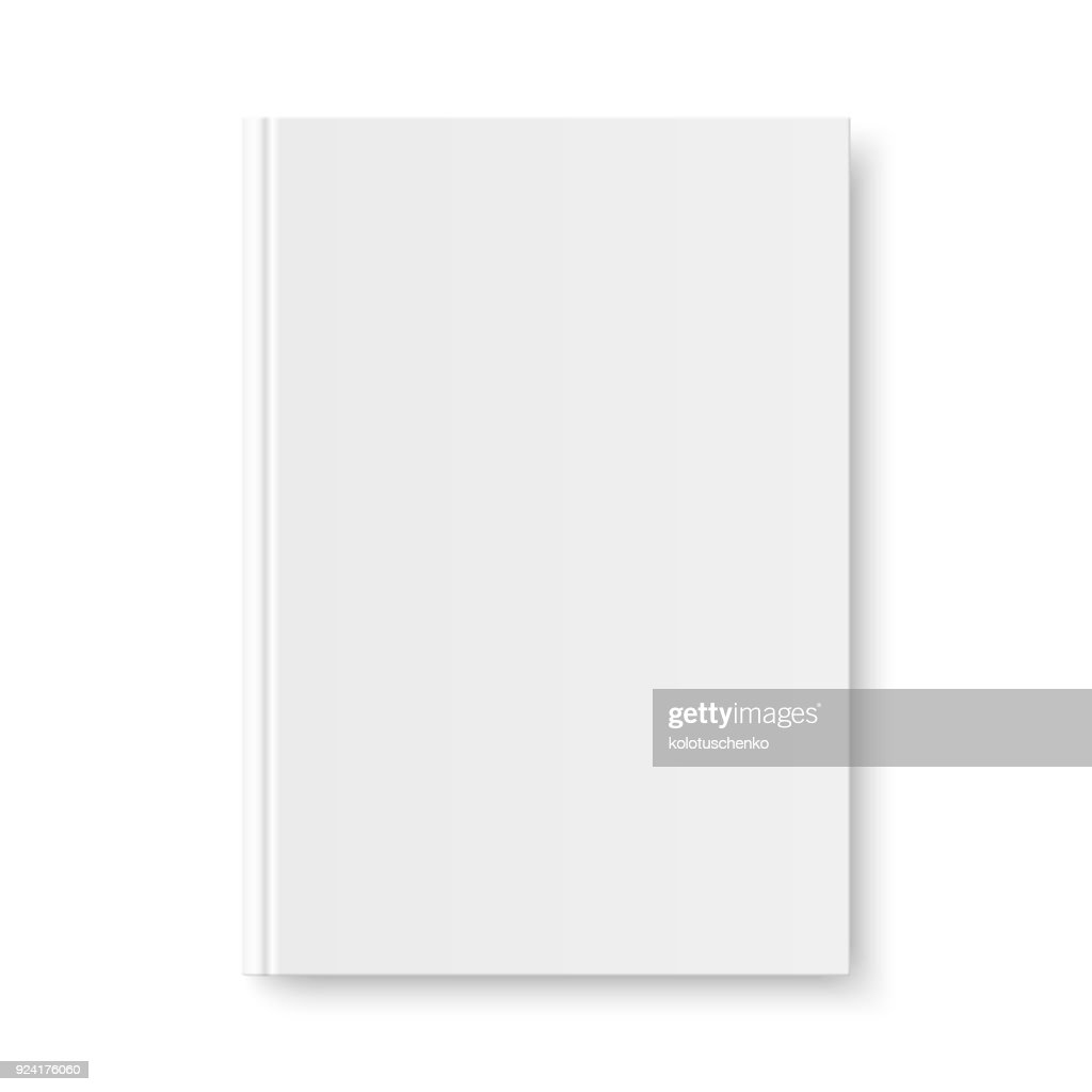 Vector mock up of book white blank cover
