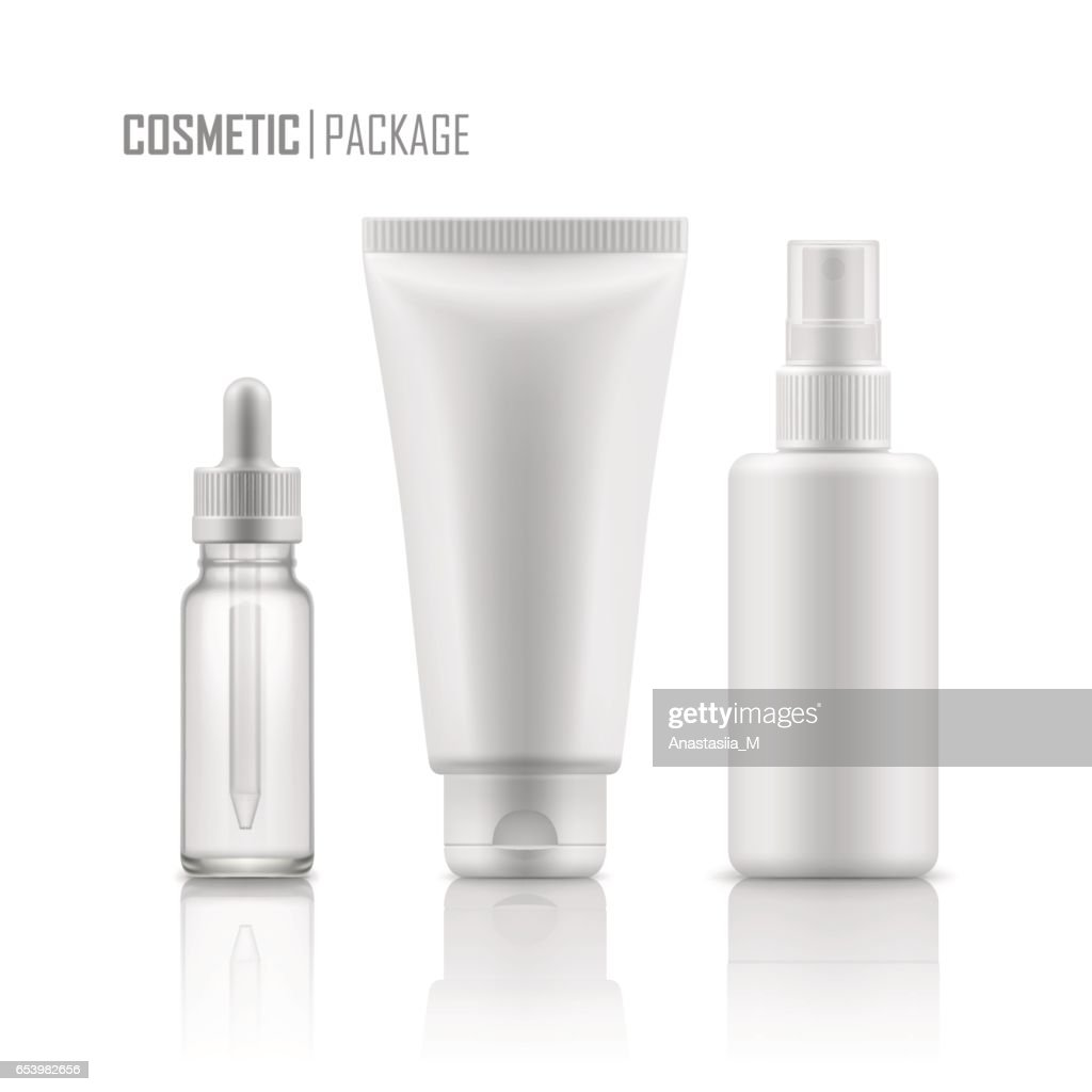 Vector mock-up of cosmetic packages