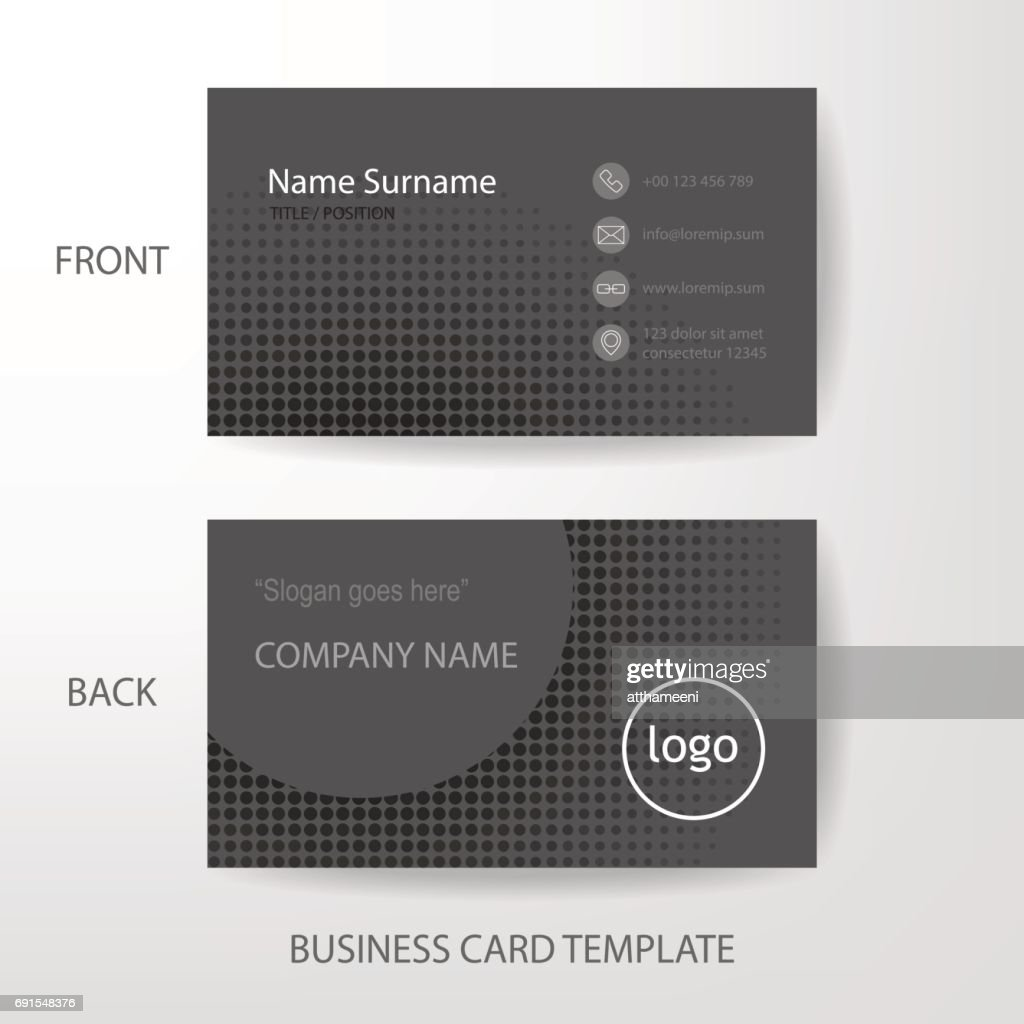 Vector modern and clean grey business card design template