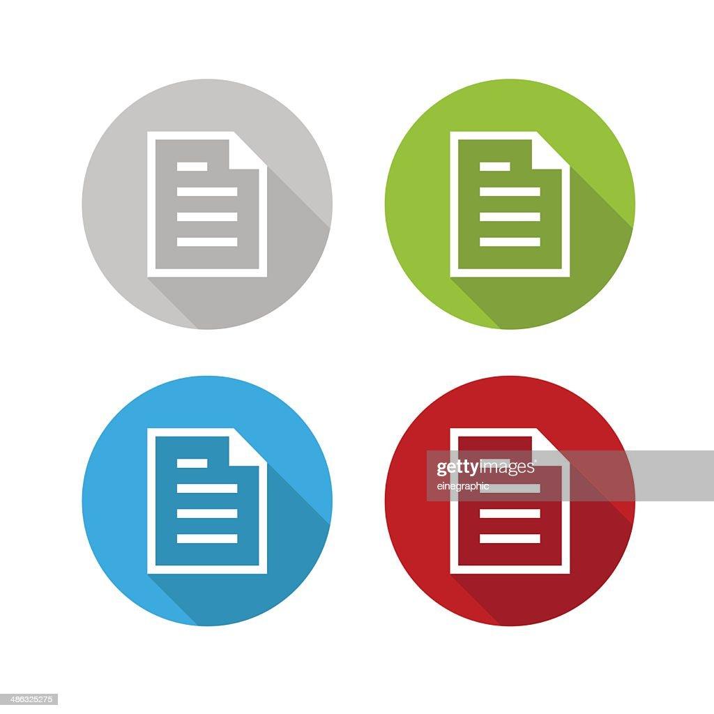 Vector modern circle icon document
