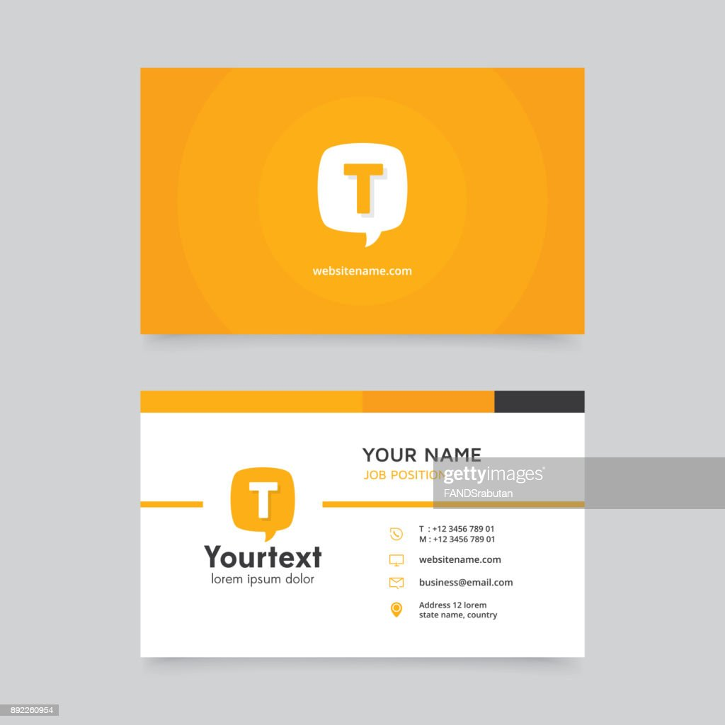 Vector modern creative and clean business card with communication symbol