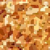 Vector modern geometric mustard camouflage seamless pattern