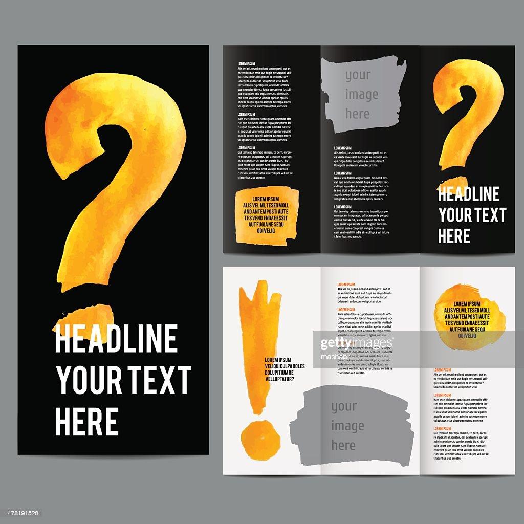 vector modern trifold brochure design vector art getty images