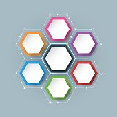 Vector molecule with integrated Hexagon background