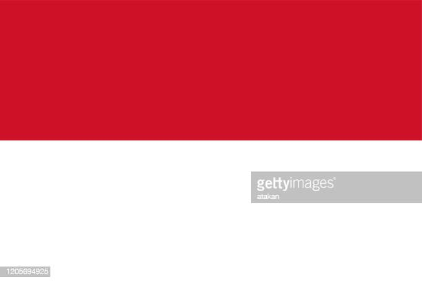 vector monaco flag design - monaco stock illustrations