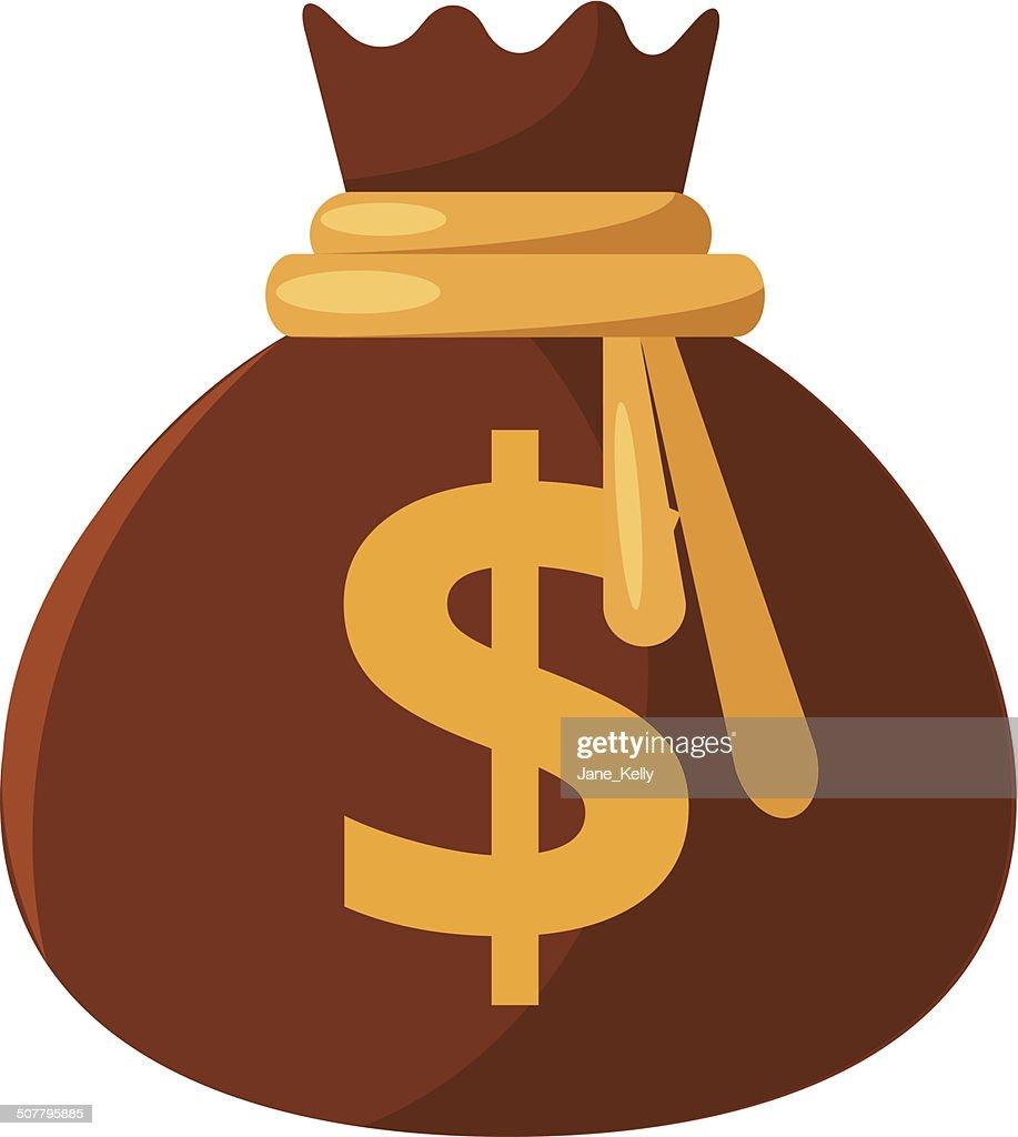 Vector Money Bag Flat Icon