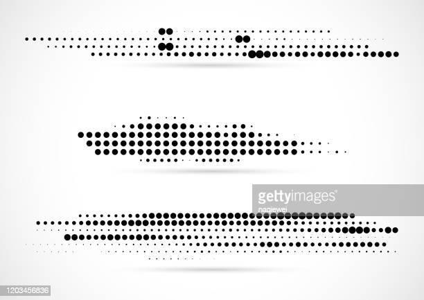 ベクトルモノクロハーフトーンドットパターンデザイン要素 - モアレ縞点のイラスト素材/クリップアート素材/マンガ素材/アイコン素材
