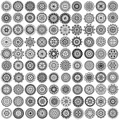 Vector monochrome icon set