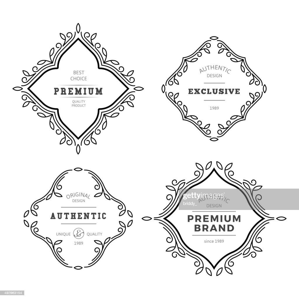 Vector Monogram Decorative Frame
