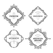 Vector Monogram Decorative Frame