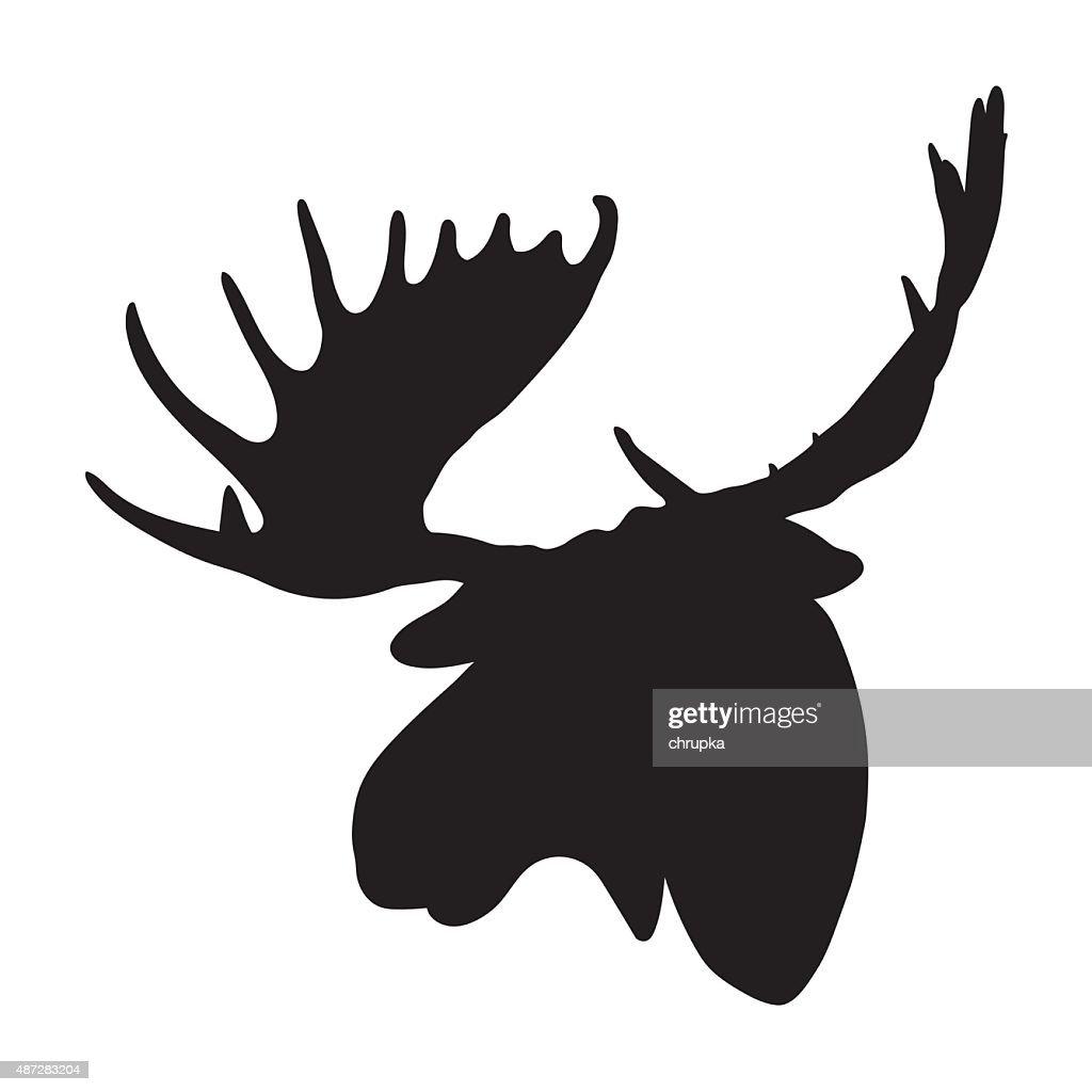vector moose head