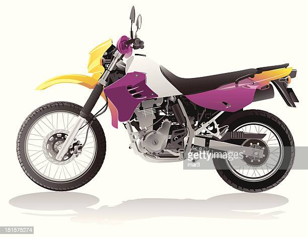 vector motorcycle - motocross stock illustrations, clip art, cartoons, & icons
