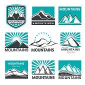 Vector mountains icon